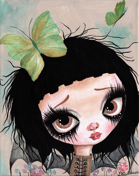 gothic fairy no 1 by dottie gleason canvas or paper rolled art print fine teens goth punk emo