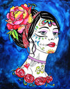 Haunting Beauty by Melody Smith Rolled Canvas Art Giclee Print