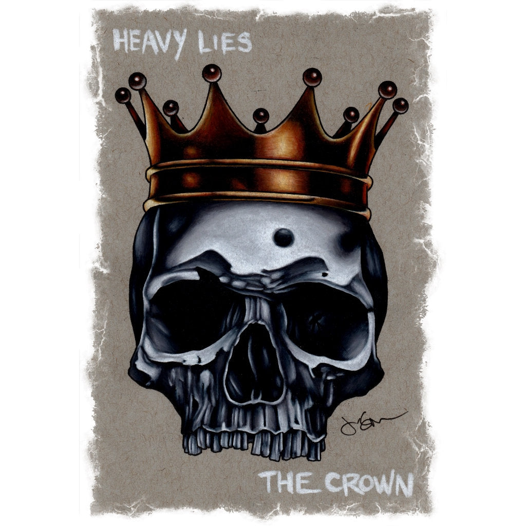 Heavy Lies The Crown by Jeff Saunders Rolled Paper Fine Art Print