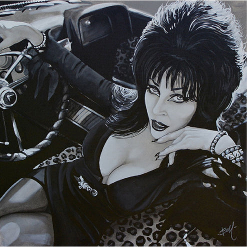 Horror Movie Hostess Elvira Wall Art | Moodswings Inc