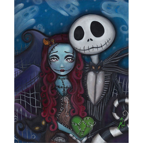 jack sally skeleton skellington pumpkin king cult movie collectibles merchandise poster wall art home decor halloween christm