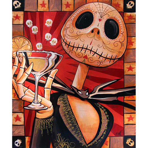 framing house unique original home bar unframed celebrate sally skeleton skellington pumpkin king movie collectibles merchand