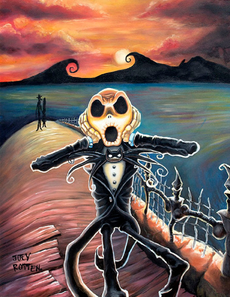 Jack Screams by Joey Rotten Munch Unstretched Canvas Art Print