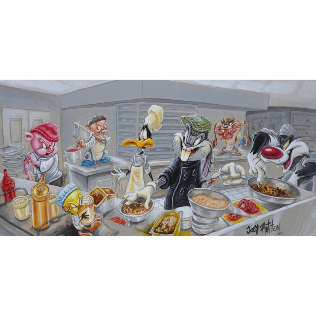 What's Cooking by Joey Rotten Bugs Bunny  Rolled Canvas Art Print