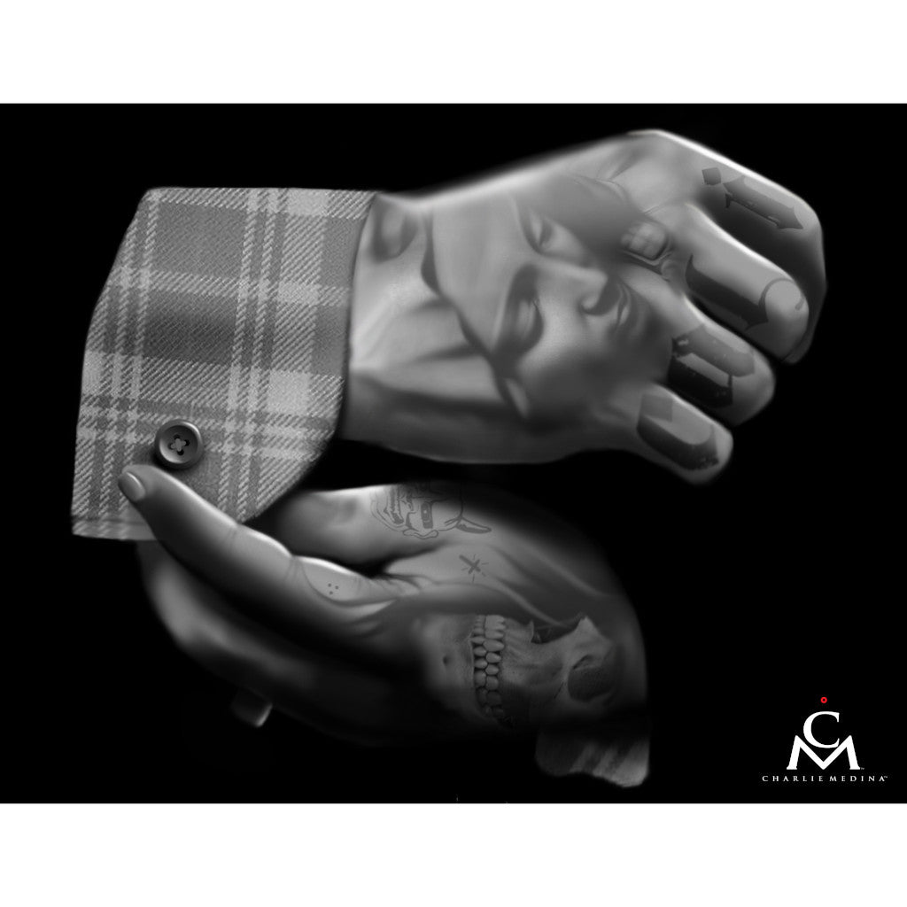 california tattooed knuckles gangs alternative poster painting traditional tattoo flash designs color artwork artist black wo