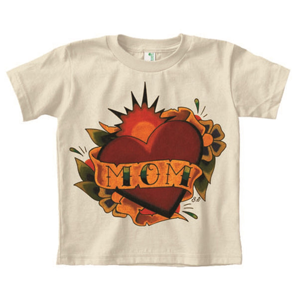 Little Kids'  Mom Tattoo Heart by Christopher Perrin Organic T Shirt