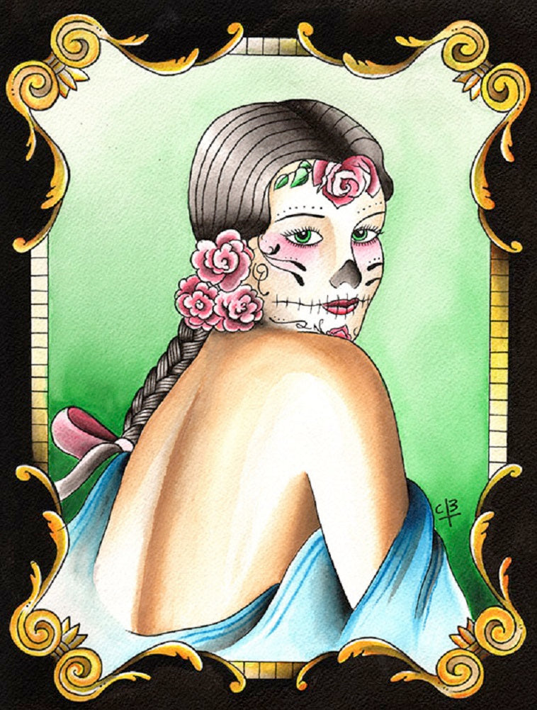 La Catrina by Candice Bauman Rolled Canvas Art Giclee Print