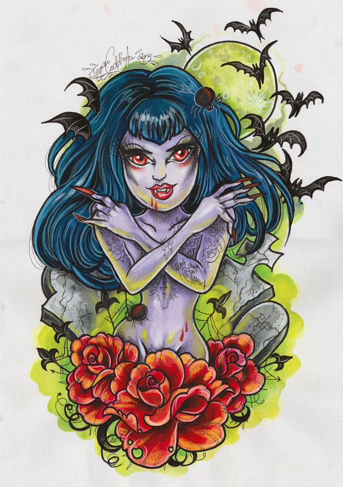 Lady is a Vamp by Tegan Coddington Rolled Canvas Art Giclee Print