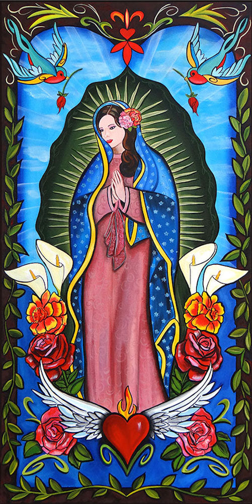 madonna virgin of guadalupe virgin mary catholic design painting traditional tattoo flash designs color artwork artist black