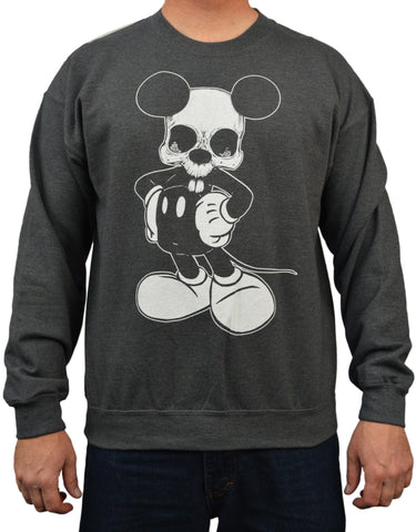 Men's Mikey by Josh Stebbins Mickey Dead Mouse Skull Tattoo Sweatshirt