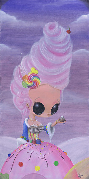 let them eat candy by sugar fueled princess marie antoinette canvas art print lollipop  cupcakes  fantasy  queen  alternative-artwork