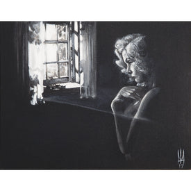 Unstretched Canvas Gothic Portrait of Woman | Moodswings Inc