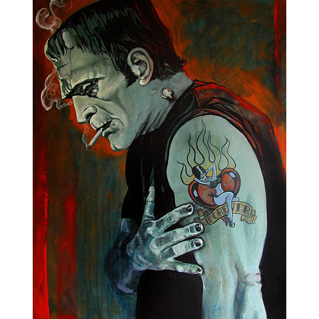 Broken Hearted by Mike Bell Frankenstein Art Print for Framing