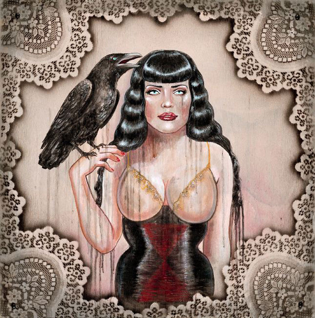 Black Widow by Sara Ray Paper Rolled Art Unframed Giclee Print