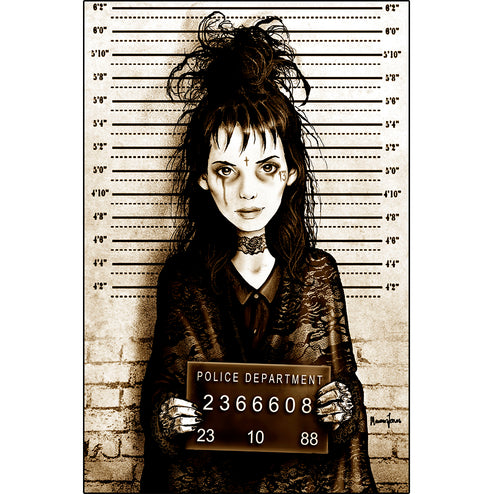 Lydia Mugshot by Marcus Jones Beetlejuice Fine Art Print Poster