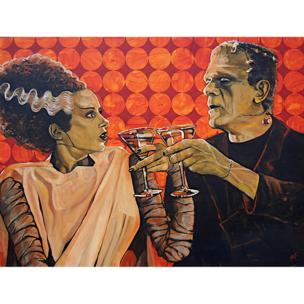 bride-of-frankenstein alcohol  monsters classic-monsters drinking