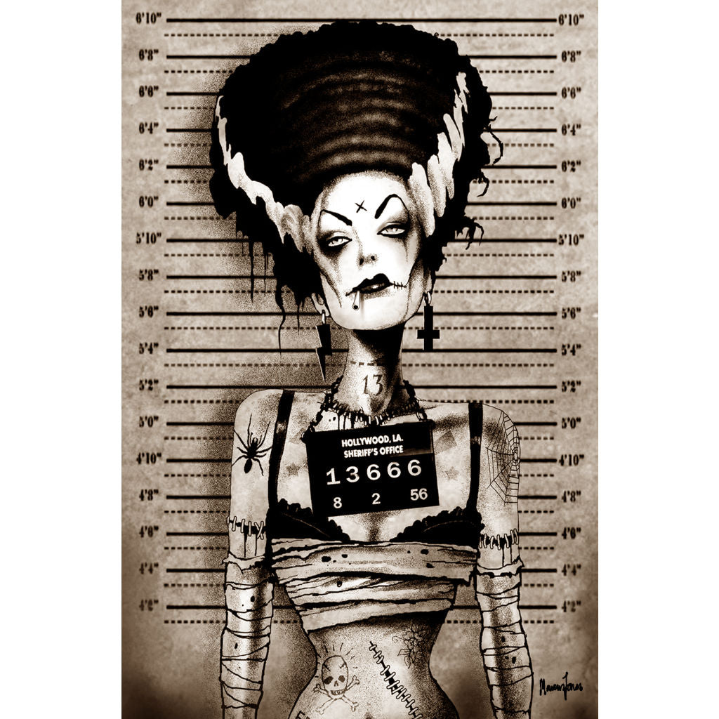 living-room jail classic guys  halloween monster tattooed punk horror cigarette undead tattoo artwork picture goth horror cha