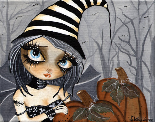 Matilda The Halloween Fairy by Dottie Gleason Gothic Canvas Art Print