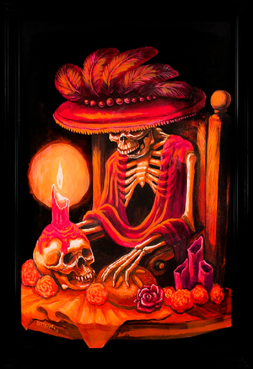 Memories Candlelight by Joey Rotten Unstretched Canvas Art Print