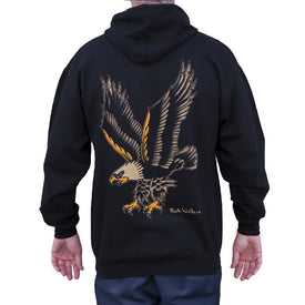 old-school traditional bald-eagle printed-on-back american