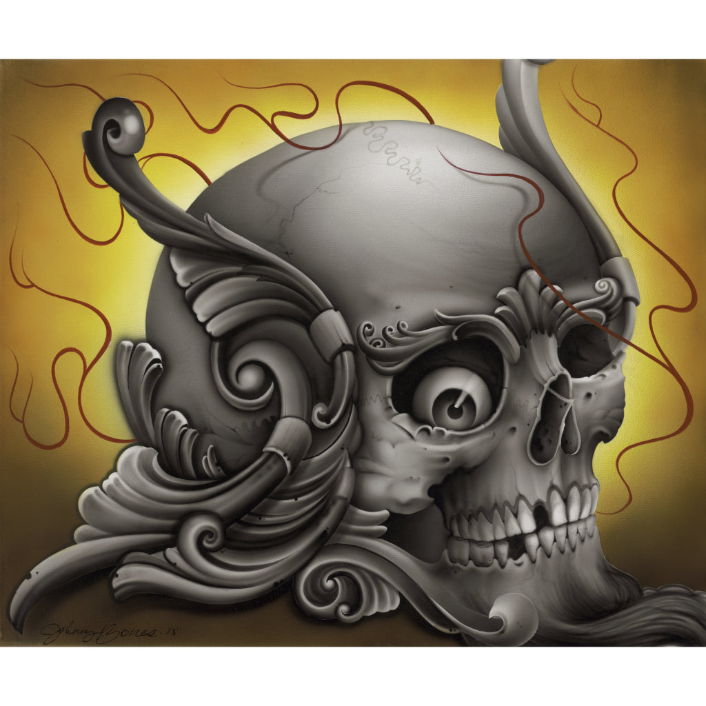 Skulligree by Johnny Bones Rolled Canvas Art Giclee Print