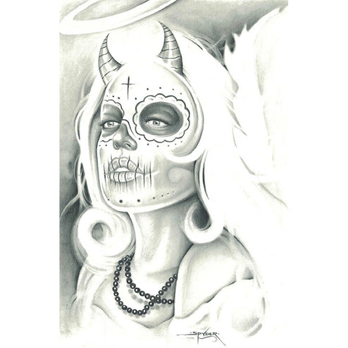 Mexican Angel by Spyder Rolled Canvas Art Giclee Print