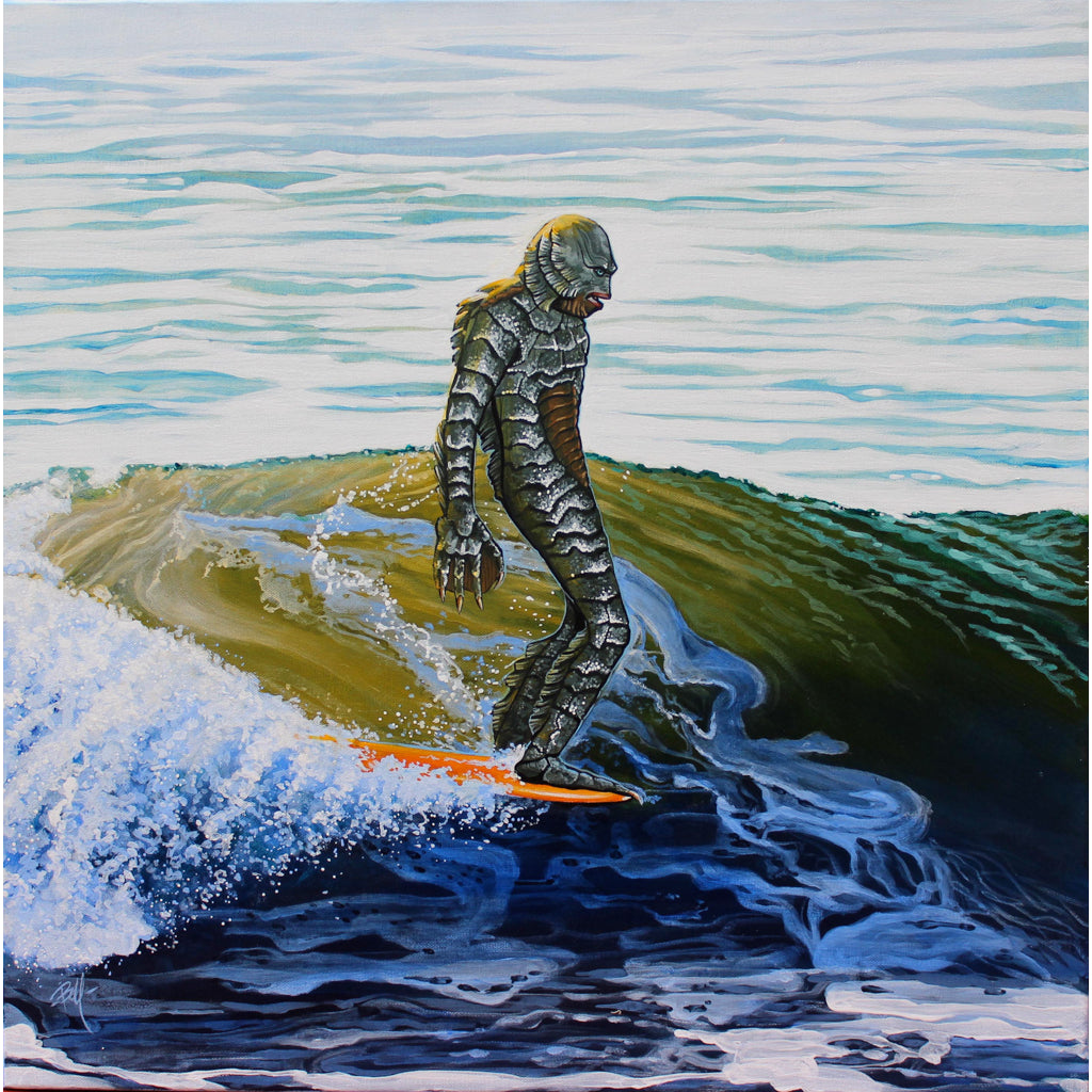 Surf Art Creature from the Black Lagoon art | Moodswings Inc