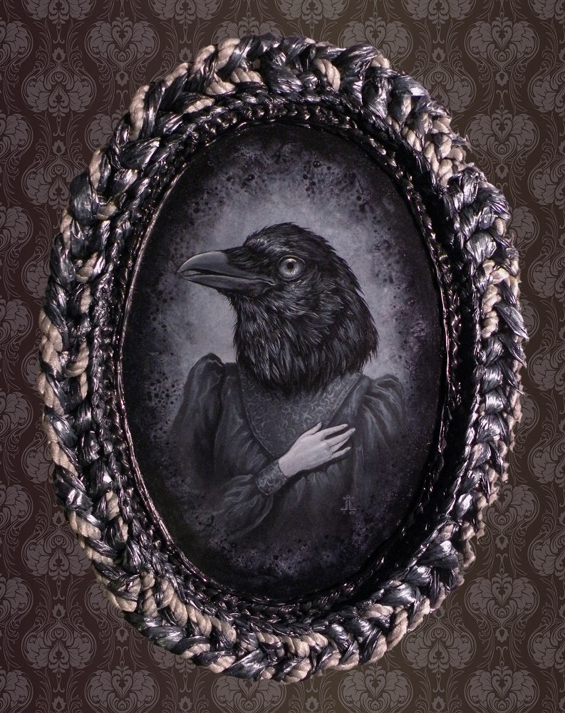 Mina Lovesick by J Larkin Raven Chimera Unframed Fine Art Print