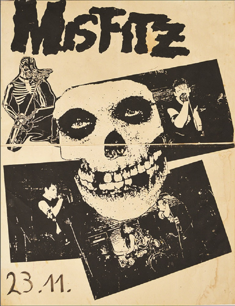 Misfitz by Annex Punk Rock Music Vintage Concert Band Poster Art Poster Print skull flyer gig  club  heavy-metal