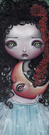 Moon Keeper by Abril Andrade Griffith Little Girl Fine Art Print
