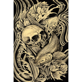 Mortality by Clark North Japanese Tattoo Unframed Fine Art Print