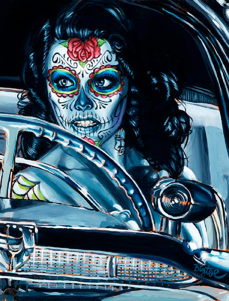 Muerte Se Pasea by Big Toe Rolled Canvas Art Giclee Print