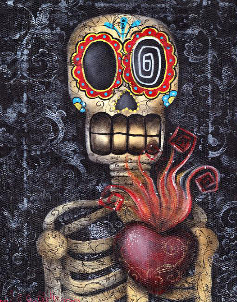 My Sacred Heart by Abril Andrade Sugar Skull Fine Art Print