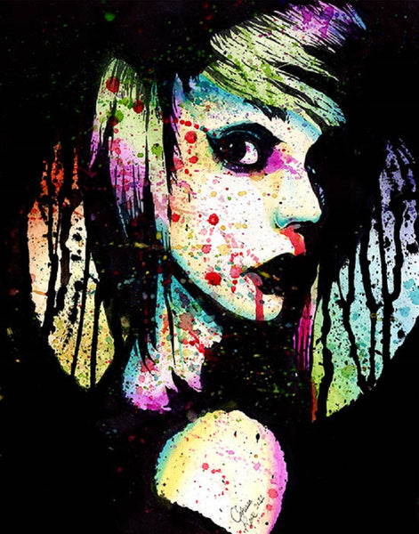Nervous Breakdown by Carissa Rose Rainbow Emo Girl Canvas Art Print