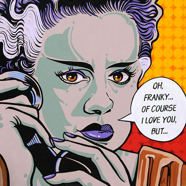 of course i love you 1 by mike bell classic cartoon comic book bride of frankenstein giclee art print bride-of-frankenstein  classic-comic-book  zombie  marvel  alternative-artwork