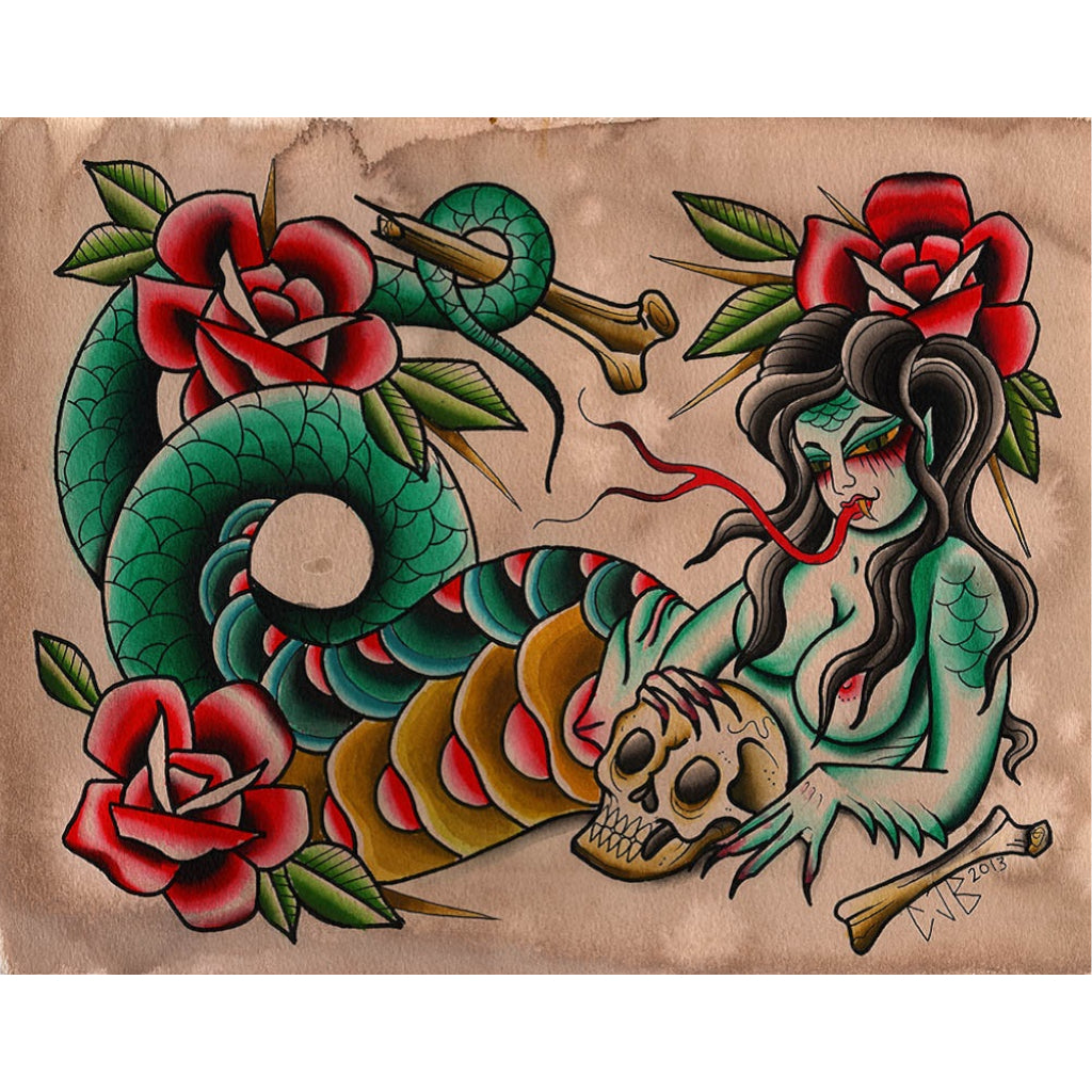 Serpentina by Chelsea Jane Rolled Canvas Art Giclee Print