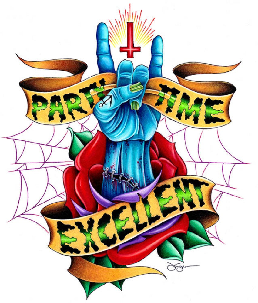 zombie hand anti religion upside down cross tattooed rose anti christ painting traditional tattoo flash designs color artwork