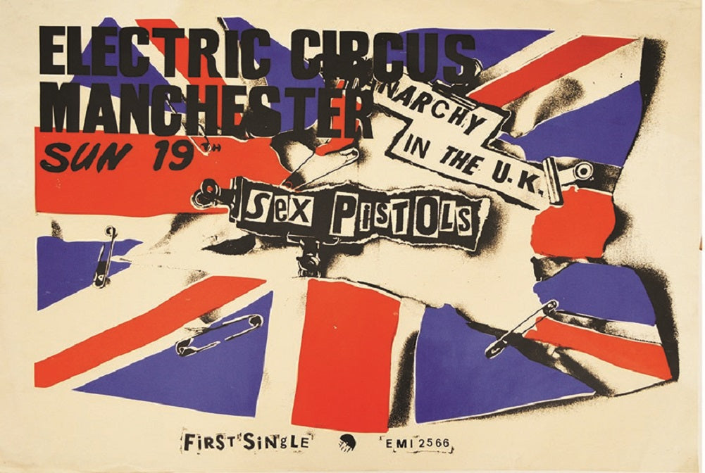 Pistol by Annex Punk Rock Sex Pistols Concert Poster Canvas Art Print