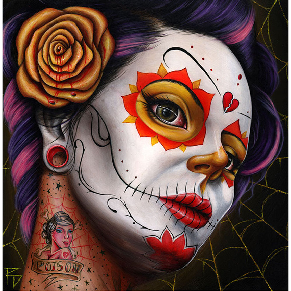 mexican folk paintings colorful pretty wall art rose artwork painting traditional tattoo designs color artwork artist day of