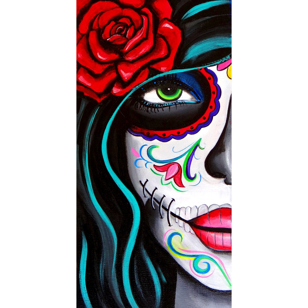 Green Eyes by Melody Smith Latina Tattoo Rolled Canvas Art Print
