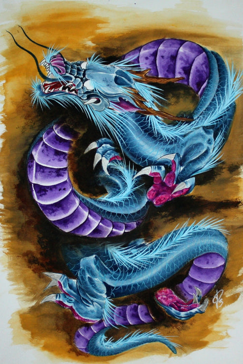 traditional purple artwork colorful paintings painting traditional tattoo flash designs color artwork artist black wood home