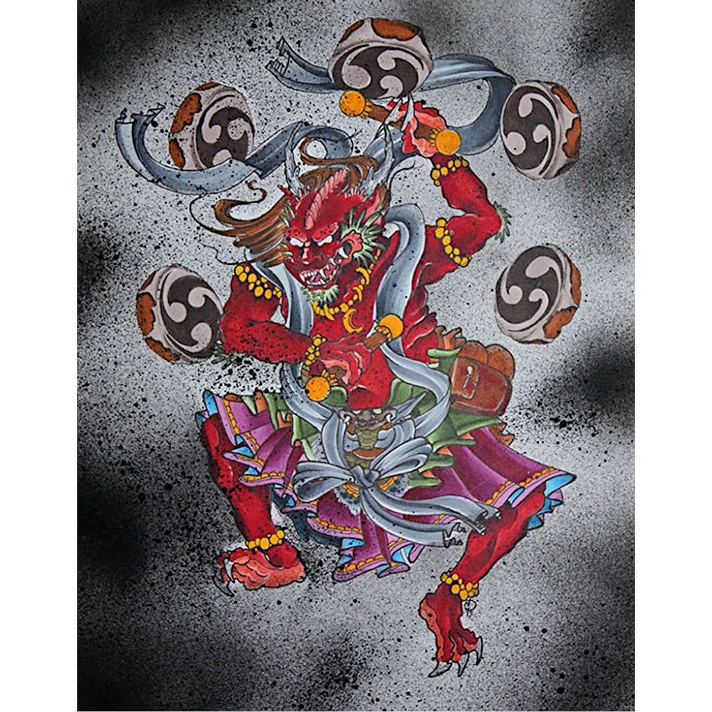 Raijin God of Thunder by Derek Dufresne Rolled Canvas Art Giclee Print