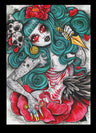 artwork horror gore halloween decor painting traditional tattoo flash designs color artwork artist black wood home decor larg