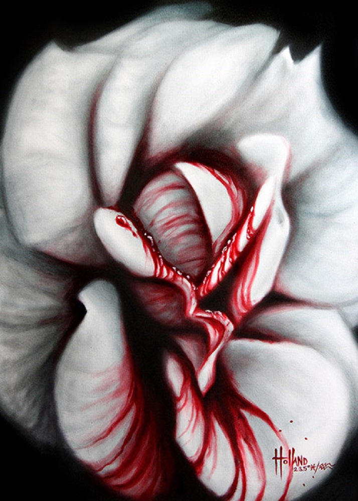 Rose Blood by Bobby Holland Rolled Canvas Art Giclee Print