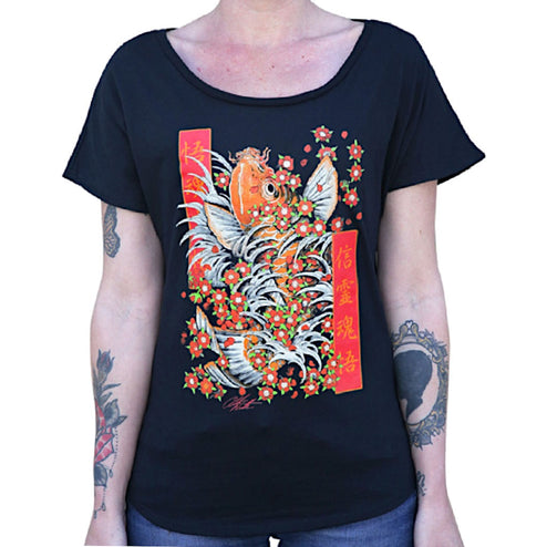 Buy Japanese Tattoo Dolman Sleeve T-shirts