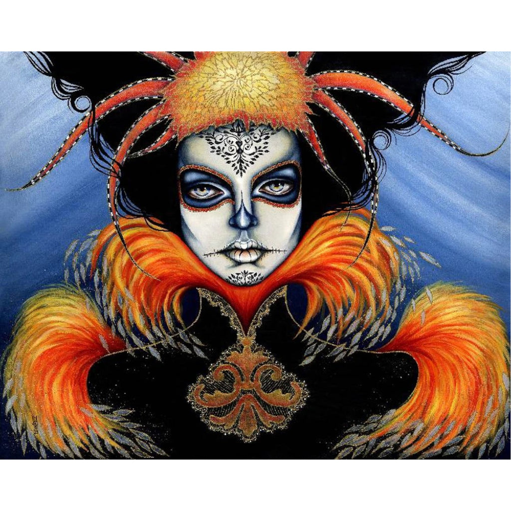 day of the dead headdress painting mexican artwork painting traditional tattoo flash designs color artwork artist black wood