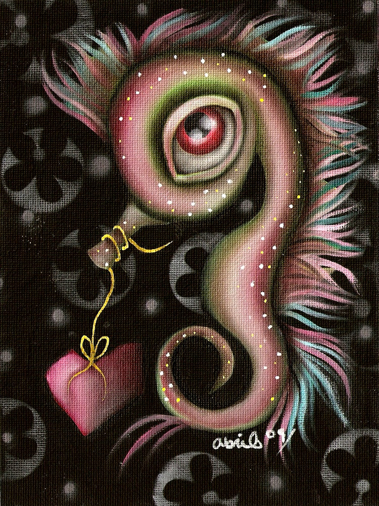 Seahorse With Heart by Abril Andrade Nursery Fine Art Print