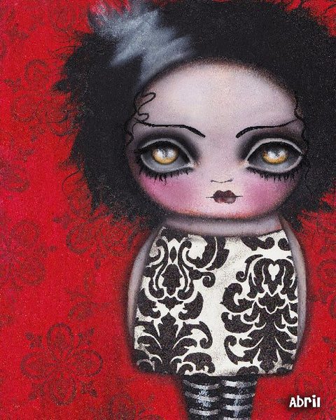 shes alive by abril andrade griffith canvas or paper rolled art print emo  sad-child  goth-child  cute-goth-girl  fine-art-print