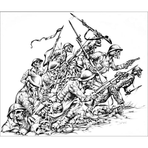 Death in the Trenches by Dan Scholz Paper Rolled Art Unframed Print
