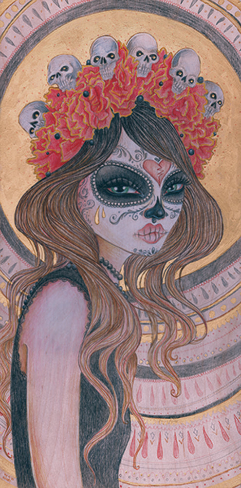 dia de los muertos mexican folk art traditional design painting traditional tattoo flash designs color artwork artist black w